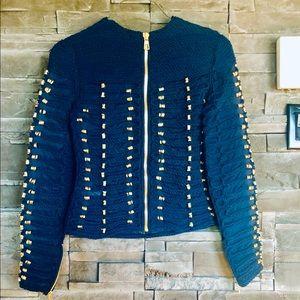 Balmain X H&M - blue  gold rope top